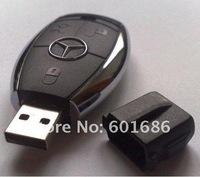 16G Car key shape USB 2.0 Flash Drive Stick Guaranteed full U disk 16GB Cartoon memory pen drive card New Hot
