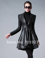 Women clothing Women Winter New PU leather coat Y3593
