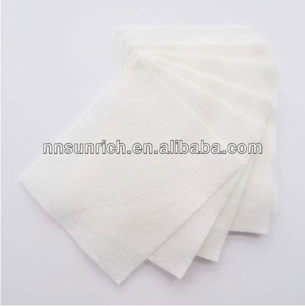 Lint free square cosmetic cotton pads