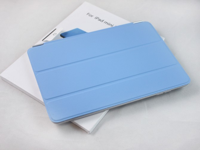 Hot sale for Ipad mini smart cover ,smart cover for Ipad mini with 3 folding fuction