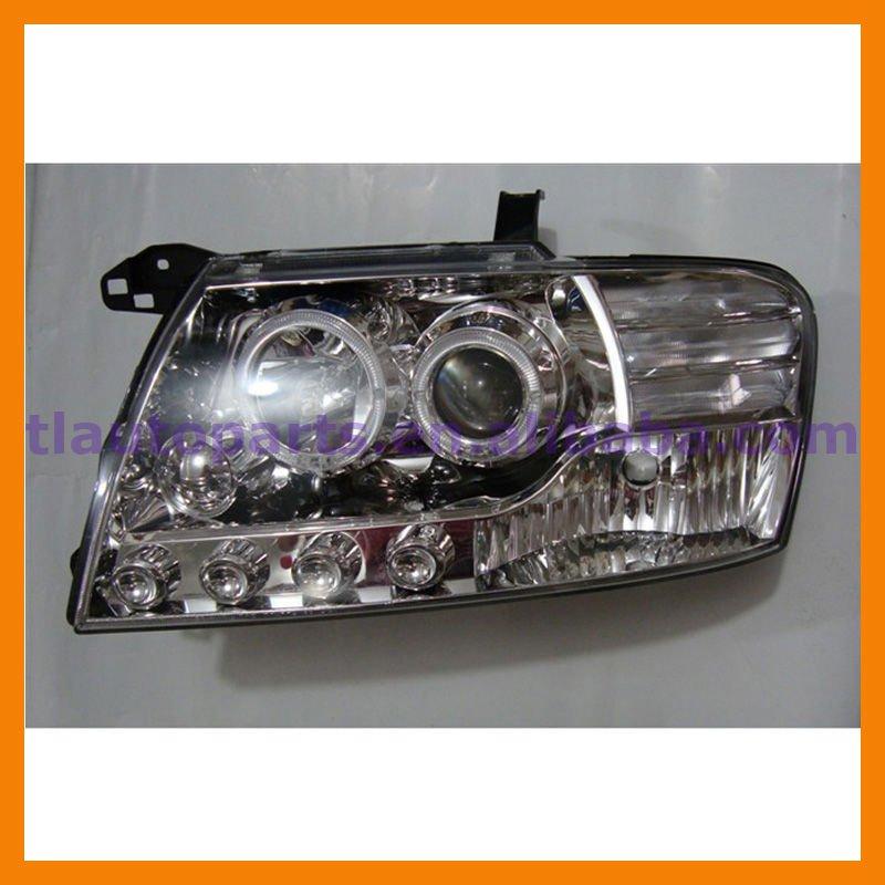 Angel Eyes Projector Head Lamp With Convex Lens Optic For Mitsubishi Pajero Montero V73 V75 V77 ...