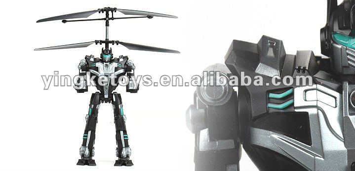 Newest 2 Channel infrared gyro rc flying robot