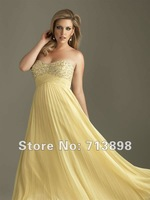 Fashion Prom Dresses Ball gown Ball gown Satin Draped Beaded