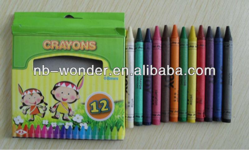 CR001-12pcs crayon set for kids over 3 ages