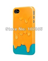 Чехол для для мобильных телефонов 2012 Ice Cream plastic Case for iPhone 4 4G 4S, colorful Melt brand hard cover for iphone 4s
