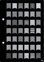 2 pcs/lot XL Nail Art Stamp Stamping Image Plates #1659