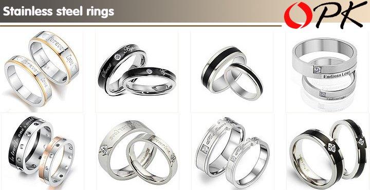 из нержавеющей стали, кольца
