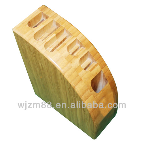Bamboo kitchen knife block