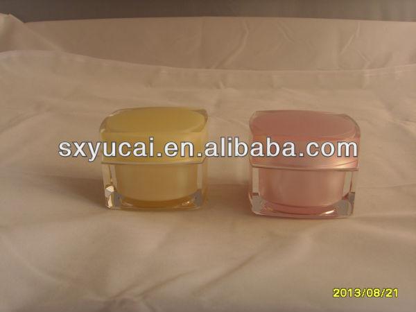 OEM square 1oz cosmetic packaging jar