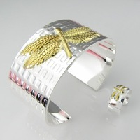 2012 top selling ,Woman's Sliver plated , RING + Elegant BANGLE Jewelry sets PT374, FREE SHIPPING