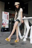 Женские сандалии hot sale! suede wedge high heel platform slides for women/ladies, fashion pumps/sandals