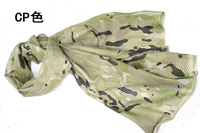 2PCS/Lot Military Camouflage Scarf 155cmx48cm Collar Multi-function Scarf /Turbans Three Colours Outdoor Necessary Winter