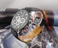 Наручные часы Luxury hot sale black Genuine Leather watch men fashion Mechanical Watch RQ0028