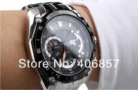 New EF-550D-1AV Men's Chronograph Sport EF-550D EF 550D watch EF-550D-1A 1/1 Stopwatch  EF-550D-7AV