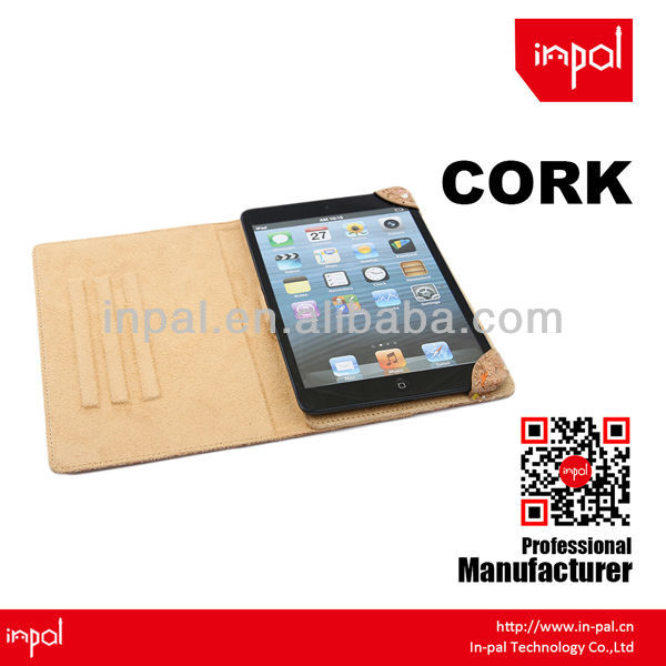 smart cork universal tablet leather case for ipad mini3