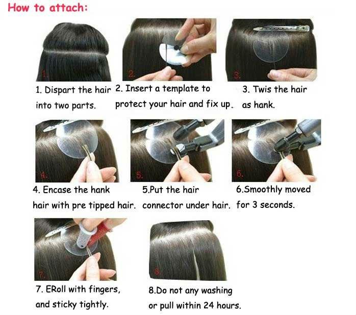 Keratin Nail Tip Hair Extensions 112