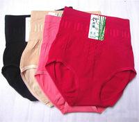 Женские трусики Ladies Panties High Waist Shaping Briefs Pants Panty Seamless Bamboo Fiber Women's Underwear Knickers