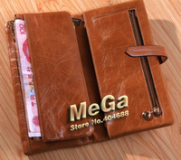 Кошелек 2012 style 100% Genuine Leather oil wax skin women's Long section of the multi-card wallet Christmas gifts JJ1028