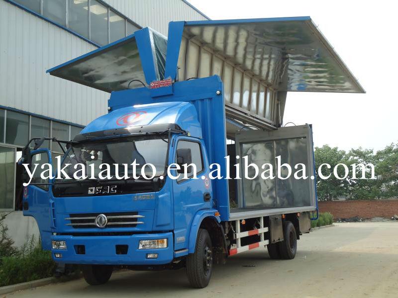 winging opening truck body, wing opening van