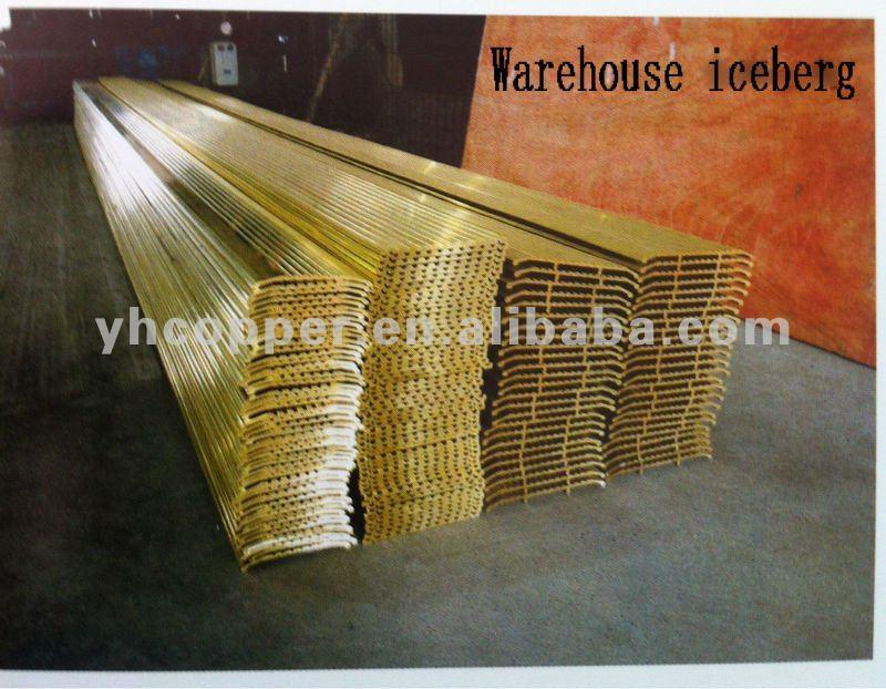 Brass alloy copper extrusion profiles bars