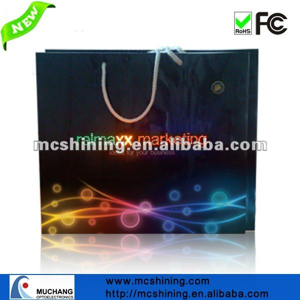 .2014 fashion paper shopping bag High quality Packaging gift bag light up paper bag