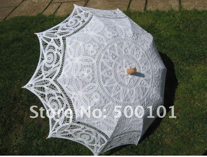 Beautiful cotton tape lace parasol