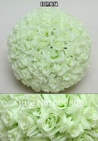 42cm Rose kissing ball artificial silk flower wedding decoration