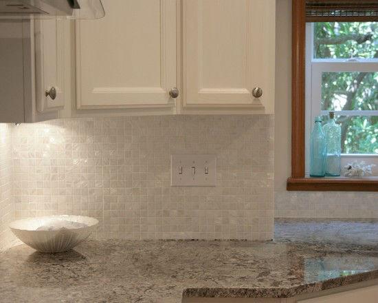 Parelmoer muur tegel backsplash keuken ontwerp natuurlijke schelp tegels moza ek kunst schelp - Muur tegel installatie ...