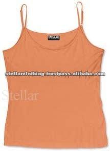 100% cotton Laies Tank Top - Orange - Stellar.jpg