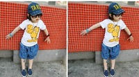 Free shipping   fashion children jeans   for summer  with wholesale and retail