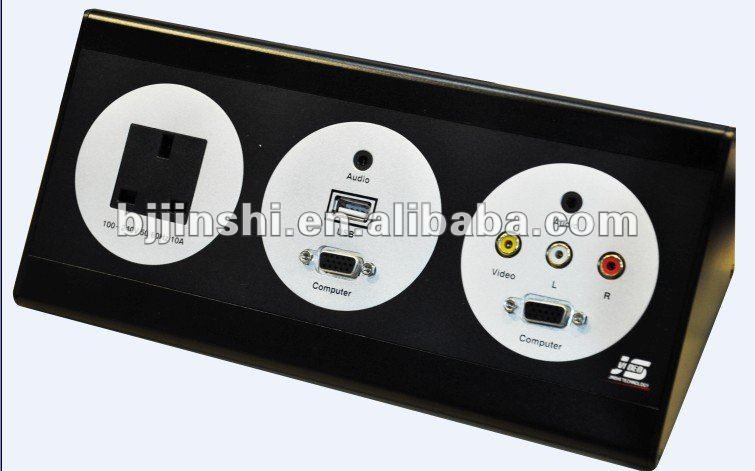 Hotel room multi-media electric panel