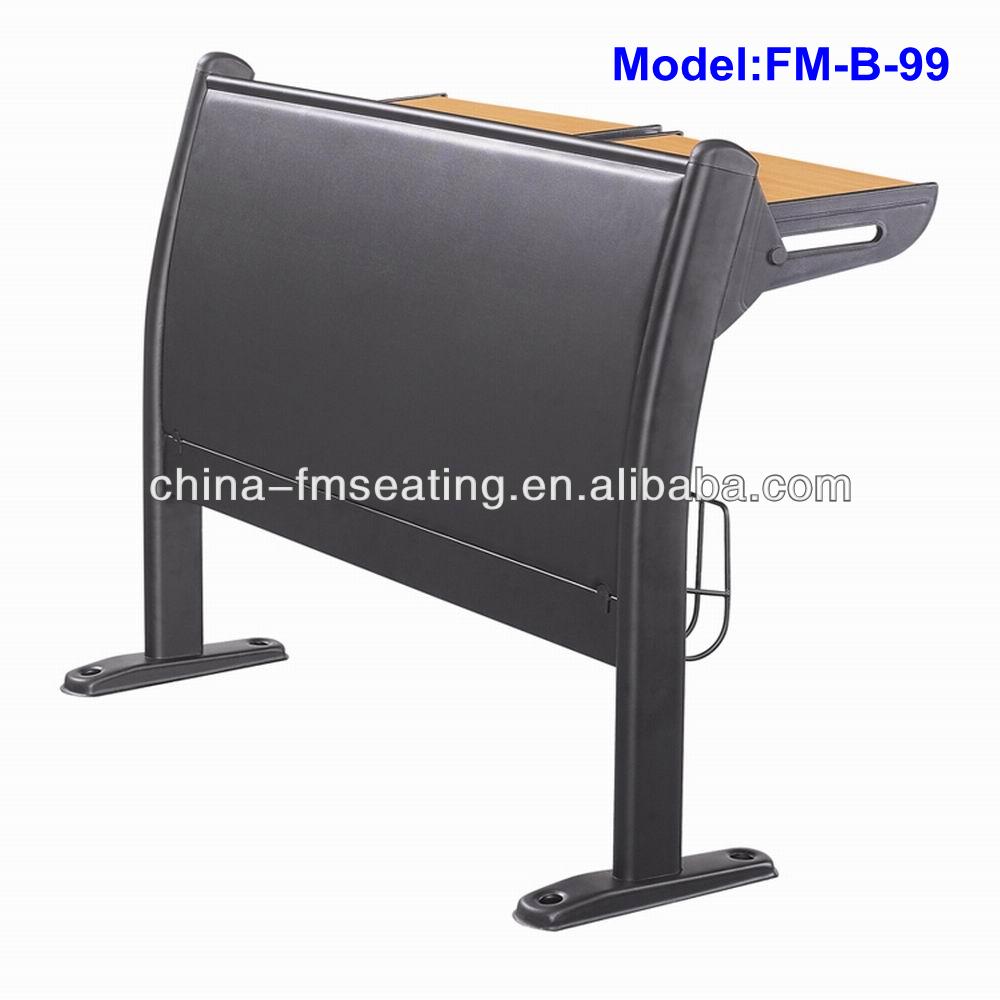 FM-B-99 Durable metal leg wood top school desk and chair