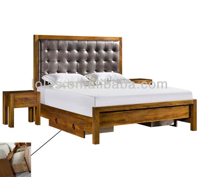 solid wood modern bedroom furniture design