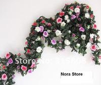 искусственный шелк роза винограда с 48 главы свадебное украшение растений винограда / дом дворе украшения 2шт / партии 220 см fl017