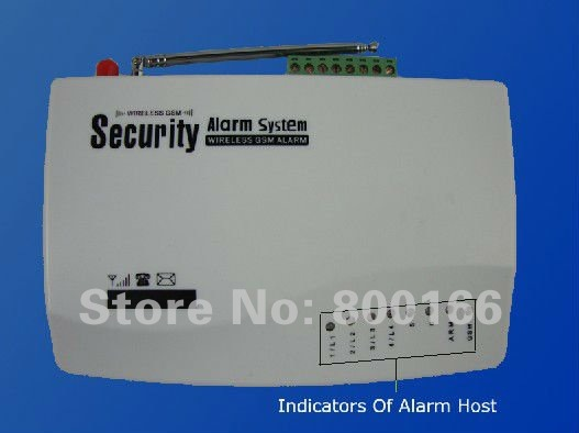 Free Shipping Wireless GSM  Alarm System+1 door sensor+1 PIR sensor+1 Mini wired siren+2 remote control (KI-G10S)
