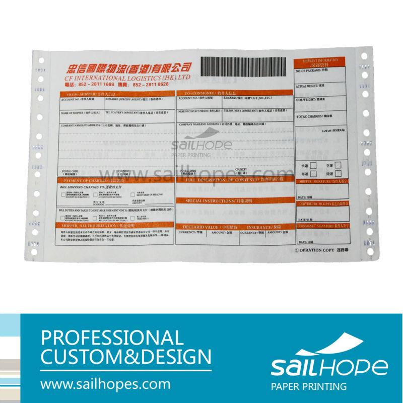 Express Waybill Waybill Printing Consignment Note Barocde