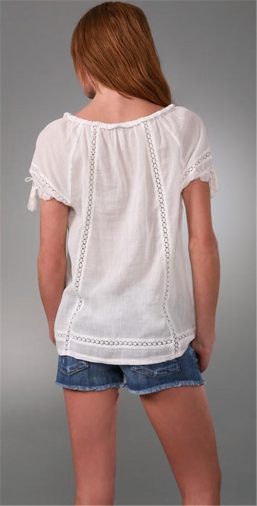 2014 latest short sleeve online shopping for blouses