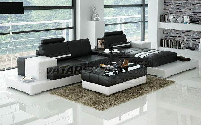 italian leather L shape sofa