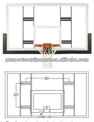Steel Framed basketball backboard
