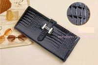 Кошелек 4pcs 2012 Pattern Genuine Leather Women's Long Wallets ladies Fashion Purse Clutch Bag HJ1