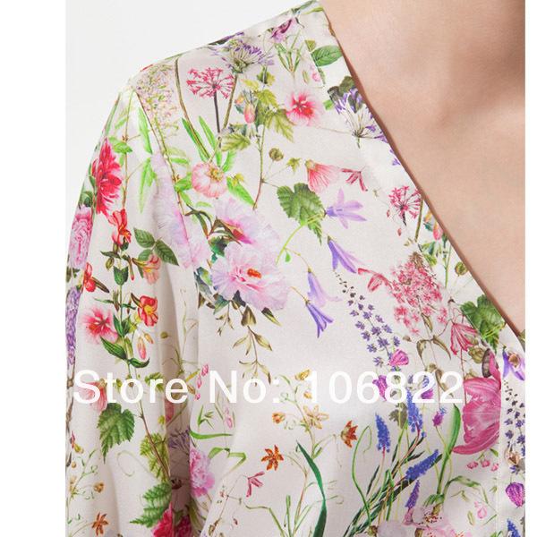 Блузки Цветочный Принт