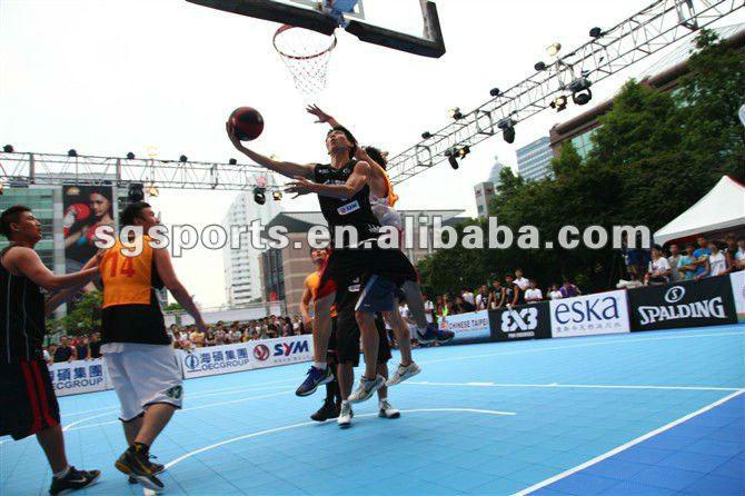 SGLH anti-slip pp interlocking sports flooring basketball flooring prices 4004