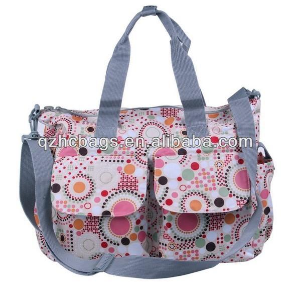 Polka dot large diaper bag backpack(HC-A272)
