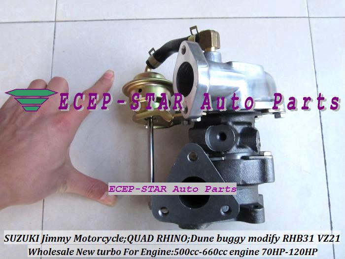 RHB31 VZ21 Turbocharger For SUZUKI Jimmy 500cc-660cc engine MOTORCYCLE QUAD RHINO Dune buggy modify 70HP-120HP