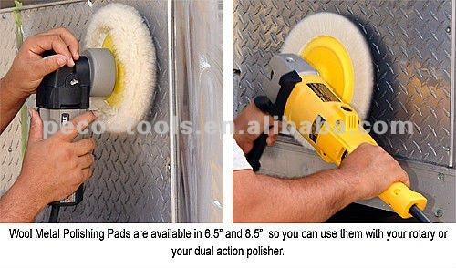 """9"""" Double Side Wool Polishing Pad"""