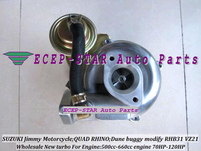 RHB31 VZ21 Turbocharger For SUZUKI Jimmy 500cc-660cc engine MOTORCYCLE QUAD RHINO Dune buggy modify 70HP-120HP (7)