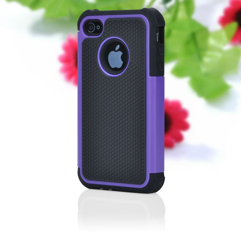 TRIPLE LAYER HYBRID IMPACT HARD CASE PHONE COVER for iPhone 4 4S ACCESSORY