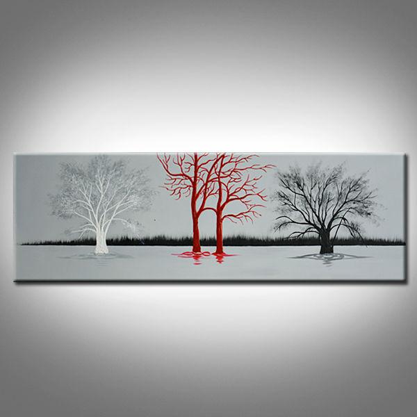 decoracao de interiores estilo handmade:Tronco de Árvore Pintura A Óleo da lona Handmade-Pintura e