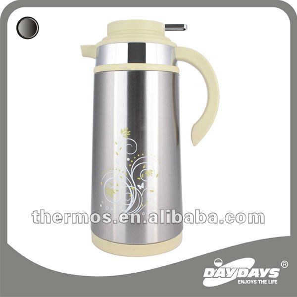 thermal carafe metal vacuum flask thermos coffee tea pot glass refill