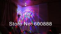 Освещения для сцены LED RGB Stage Light voice control] 9W Rotating Crystal Mini Magic Ball Effect Light Disco DJ Party CE & RoHS